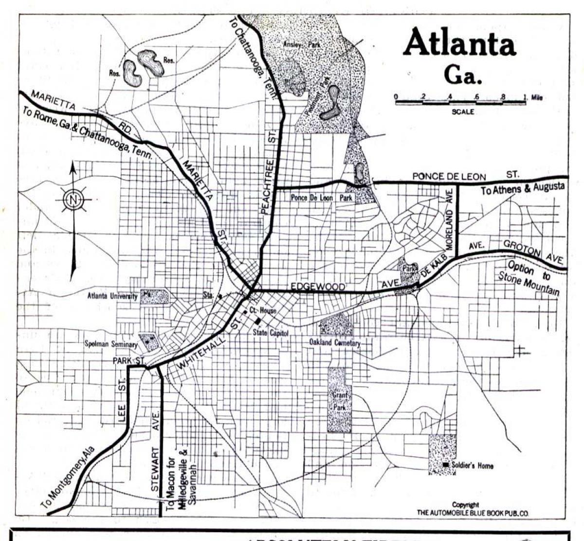 Atlanta, Georgia-map - Karte von Atlanta, Georgia (Vereinigte ...