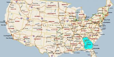 atlanta karte Atlanta map   Karten, Atlanta (Vereinigte Staaten von Amerika)